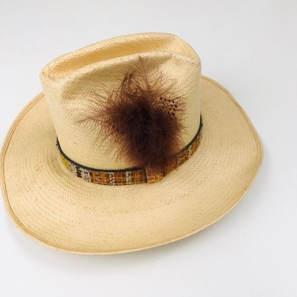 47cbe37c Stetson Accessories | Vintage Roadrunner Western Straw Hat | Poshmark